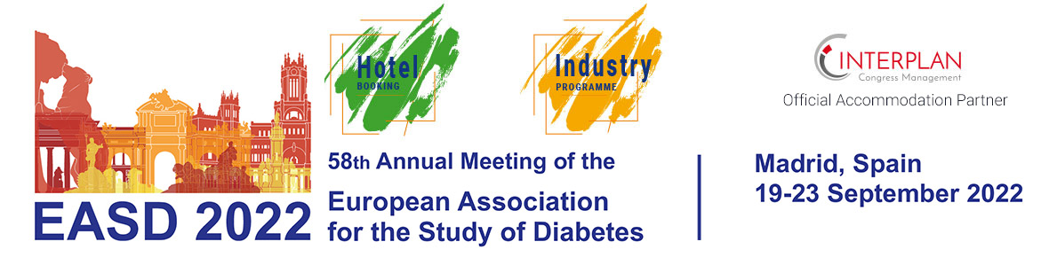 58th Annual Meeting of the European Association for the Study of Diabetes in Madrid from 19.09-23.09.2022